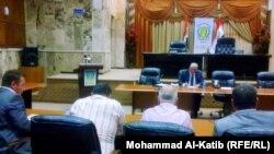 جانب من لقاء مجلس محافظة نينوى بالصحفيين والإعلاميين
