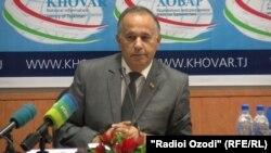 Сайфулло Сафаров, первый заместитель директора Центра стратегических исследований (ЦСИ) при президенте Таджикистана. Душанбе, 10 июля 2017 года.