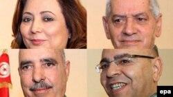 Anëtarët e Kuartetit të Dialogut Kombëtar të Tunizisë.