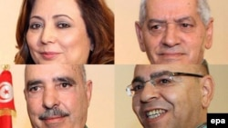 Tunisiň Milli dialog kwartetiniň agzalary.