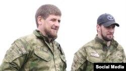 Глава Чечни Рамзан Кадыров и его помощник Даниил Мартынов.