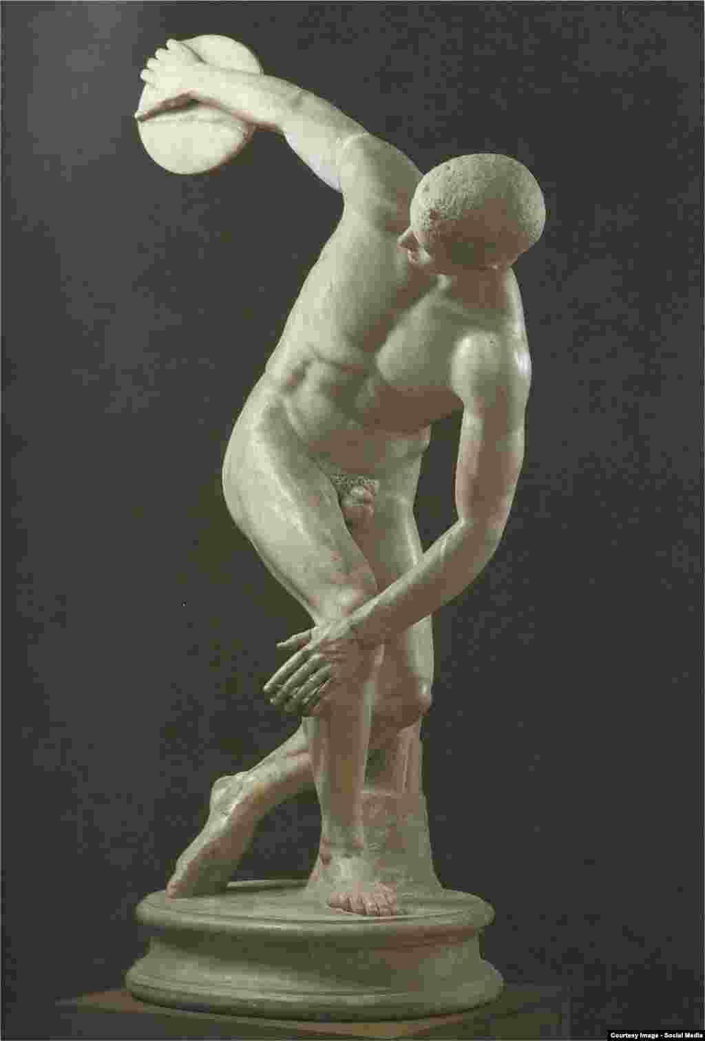 Celebrul Discobol al lui Miron, astăzi în Muzeul Vaticanului.