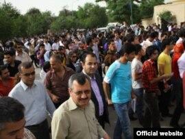 جانب من مظاهرة سلمية في مدينة السليمانية ضد اغتيال الصحفي الشاب سردشت عثمان