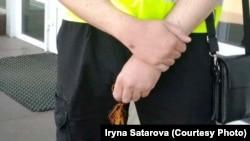 У Дніпрі поліція склала адмінпротокол на жінку з «георгіївською стрічкою»