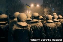 """Бойцы подразделения """"Беркут"""" в Киеве, декабрь 2013 года"""