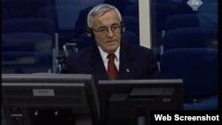 Netherlands - Ratimir Maksimović, witness at the trial to former leader of Bosnian Serbs Radovan Karadzic, 17Dec2012