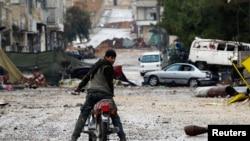 Улицы сирийского города Кобани, 30 января 2015 года.
