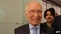 سرتاج عزیز مشاور امور خارجی صدراعظم پاکستان