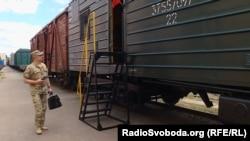 Новий вагон для бійців, які супроводжують військову техніку