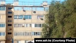 Дом, где скрывались предполагаемые террористы. Кульсары, 12 сентября 2012 года.