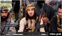 """Боевики """"Исламского государства"""", выходцы из Франции, в пропагандистском видеоролике ИГ."""