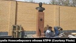 Установка памятника Сталину в Новосибирске