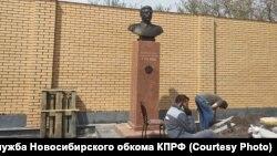 Новосибирскида Сталин һәйкәле