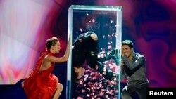 """Швеция -- Азербайжан ырчысы Фарид Мамедов """"Евровидение - 2013"""" сынагында.18-май, 2013."""