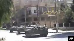 Танки на улицах города Дейр-эз-Зор
