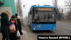 Новый бесконтактный троллейбус в Краматорске