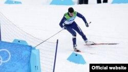 Қазақстандық шаңғышы Николай Чебатько Ванкувер олимпиадасында. Ванкувер (Канада). 2010 жыл.