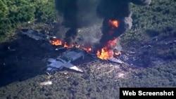 Стопкадр із відео з місця катастрофи літака
