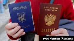 Ukrayna və Rusiya pasportu olan ukraynalı qadın 15 mart 2019