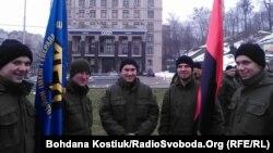 Учасники акції на майдані Незалежності в Києві, 14 березня 2018 року