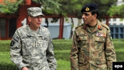 General David Petraeus (left, with Pakistani General Ashfaq Kayani) also repeated his view that the drawdown in U.S. and NATO forces, scheduled to begin in July 2011, will not result in a swift withdrawal.