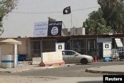 Mosulda İŞİD bayrağı