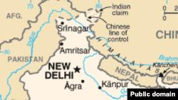 Үндістанның Кашмир аймағының картасы (Көрнекі сурет).