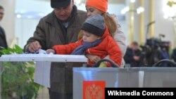2016-cı il Rusiyada Duma seçkiləri zamanı səsvermə məntəqəsi.