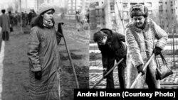 """Munca """"patriotică"""" obligatorie făcea economii însemnate la bugetele locale, dar îi transforma pe oameni în sclavi. Sursa: Andrei Birsan, Anii 80 - albumul generației mele."""