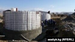 На месте строительства Верхненарынского каскада ГЭС.