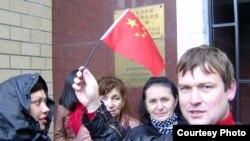 Российские предприниматели у посольства Китая в Москве