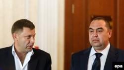 Лідери бойовиків Олександр Захарченко й Ігор Плотницький