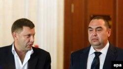 Лідери угруповань «ДНР» та «ЛНР» Олександр Захарченко та Ігор Плотницький