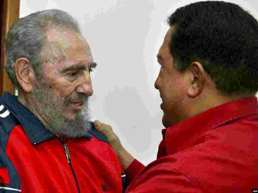 С президентом Венесуэлы Уго Чавесом, 29 января 2007