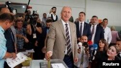 Оппозиционный кандидат в президенты Турции Мухаррем Индже. Ялова, 24 июня 2018 года.