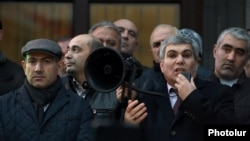 Armenia - Leaders of the opposition Yelk alliance hold ling an anti-government rally in Yerevan, 19Jan2018.