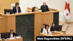 Выступление президента в парламенте