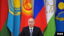 Президент Росії Володимир Путін на засіданні Ради колективної безпеки ОДКБ, ілюстративне фото