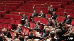 Lawmakers in the French National Assembly approve the so-called genocide-denial bill on December 22.