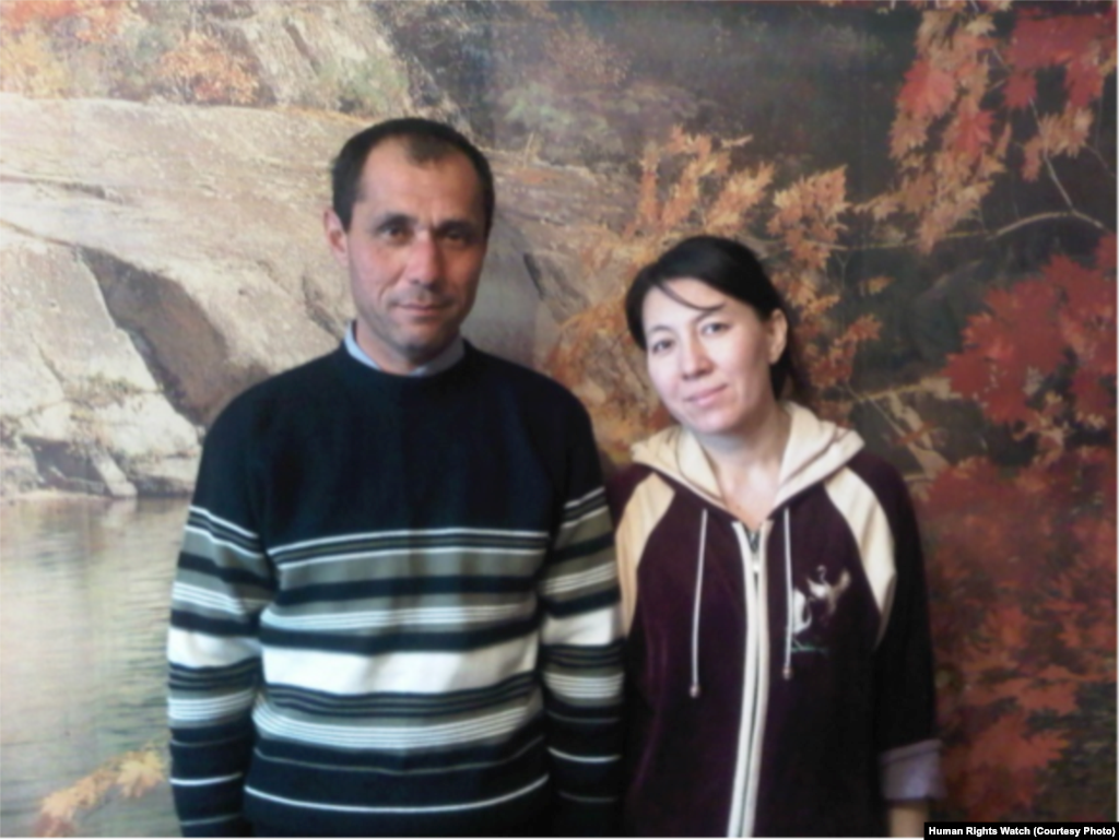 Farkhodkhon Mukhtarov and his wife, Surayo, five days after his release from prison in December 2010. His release came one day after U.S. Secretary of State Hillary Clinton publicly promised to raise cases of imprisoned human rights activists with President Islam Karimov during a visit to Tashkent.