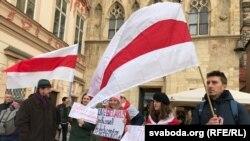 Пікет супраць інтэграцыі на Старамесцкай плошчы ў Празе