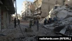 Последствия бомбардировок Алеппо