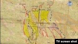 Karta sa nacrtanim četiri S, dokaz prikazan u sudnici 1. ožujka 2013.