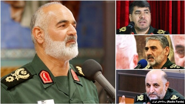 "The commander of IRGC's regional HQ in the southwest of Iran ""Karbala"", Ahmad Khadem and his provincial deputies Hassan Shahvarpour (Khuzestan), Morteza Kashkouli (Lorestan), and Hamid Khoramdel (Kohgiluyeh and Boyer-Ahmad)."