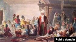 XVIII гасыр кырымтатарлар тормышын сурәтләгән рәсем. Larichesse виртуаль музей җыелмасыннан