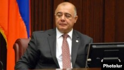 Armenia - Samvel Balasanian of the Prosperous Armenia Party attends a parliament session in Yerevan, 27Oct2010.