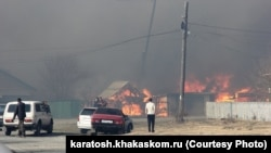 Природные пожары в Хакасии