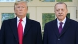 U.S. -- US President Donald Trump greets Turkey's President Recep Tayyip Erdo?an(L) upon arrival outside the White House in Washington, DC on November 13, 2019. -
