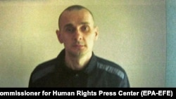 Imprisoned Ukrainian film director Oleh Sentsov (file photo)