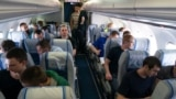 UKRAINE, KIEV - Ukrainian prisoners fly to Kiev, 07Sep19
